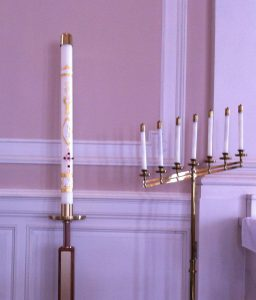 paschal candle with candles